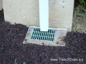 residential drainage projects, home improvement projects, plastic catch basin, plastic grates