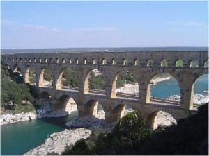 Roman aqueducts, aqueduct designs, water drainage in Roman empire
