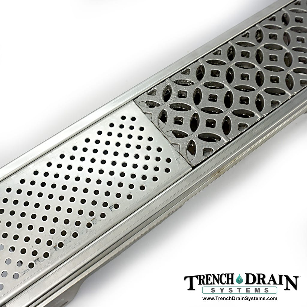 perforated heel-proof grate, heel proof grating, ADA decorative grate