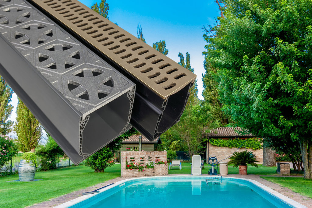 Mini Channel Aluminum Tardis Grates and Slim Channel Bronze Slotted Grates